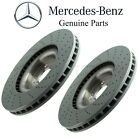 For Mercedes W166 X166 C292 Pair Set of 2 Front Disc Brake Rotors Vented Drilled