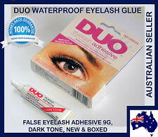 2 x DUO Waterproof Eyelash Glue, False Eyelash Adhesive, Dark-Tone - Dries Black