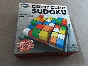 Think Fun Colour Cube Sudoku 3D Puzzle By Thinkfun/ ravens burger.Age 8+