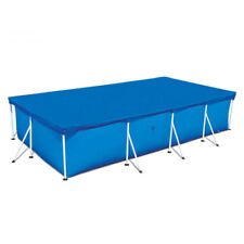 Rectangular Swimming Paddling Pool Cover Garden Outdoor Family 4 Size Blue New