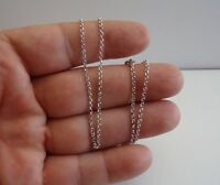 925 STERLING SILVER ROLO LINK CHAIN / 22'' LONG / ITALIAN MADE