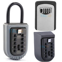 New Digit Combination Key Safe Security Storage Box Lock Case Wall Mount Holder