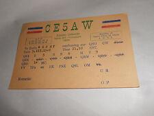 Vintage 1948 CE5AW QSL Amateur Radio Card Concepcion Chile