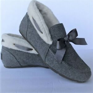 Vionic Womens Shirley Charcoal Bootie Slippers Size 6.5