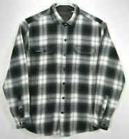 Woolrich Mens XL Flannel Shirt Plaid Long Sleeve Button Up Cotton Spread Collar