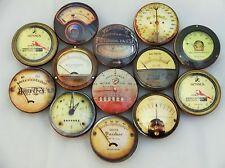 Set of 12 Industrial Gauges & Meters Oversized Cabinet Knobs Drawer Knobs