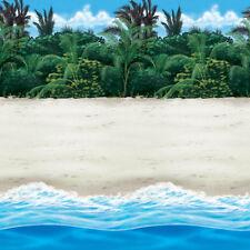 Tropical Hawaiian Paradise Scene Setter Room Roll SANDY BEACH Party Decoration