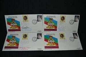 Royal Engineers series 14 set of 4 covers with 3 signed.