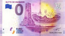55 VAUQUOIS Butte, 2020, Billet Euro Souvenir