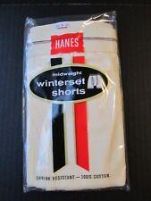 Vintage 60s Hanes midway underwear briefs-size sm. Nos red stripe