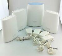 NETGEAR Orbi RBK44-100NAS Whole Home WiFi System 4 Pack Good Shape
