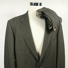 Hugo Boss Mens 44L Suit Galiei Omega 36 x 32 Pleated Brown Wool Two Button Lined