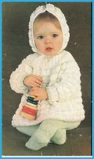 Baby Knitting Pattern HOODED Jacket and Leggings in 8 Ply
