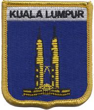Malaysia Kuala Lumpur City Petronas Towers Shield Embroidered Patch Badge