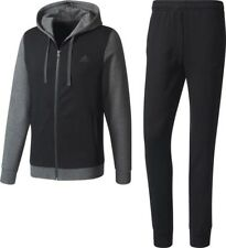 Men's Adidas COEnergize 3 Stripe Track Suit, Grey/Black, Size Medium; NWT
