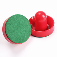 New listing 2Pcs 75mm Air Hockey Table Felt Pusher with 2pcs 63mm Puck Mallet Goalies N#S7