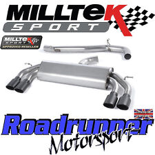 "Milltek Audi S3 8v 3-Door RACE Exhaust 3"" NON VALVED Non Res Black Oval SSXAU520"
