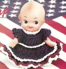 PATRIOTIC Cutie Doll Dress/Crochet Pattern INSTRUCTIONS ONLY
