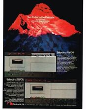 1981 Nakamichi 700ZXE, 700ZXL Cassette Tape Deck Stereo Hi-Fi Vtg Print Ad