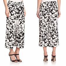 NWT 248  Kate Spade New York Synna Leafy Floral Baggy Pants, Black White.SZ:S