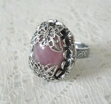 Rose Quartz Butterfly Ring, victorian edwardian art deco art nouveau bohemian