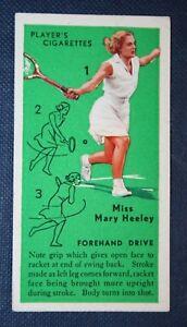 Vintage Tennis Tips    Heeley  Forehand Drive Technique  Original Colour Card