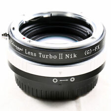 Zhongyi Lens Turbo II Focal Reducer Adapter Nikon F AI G mount to Fujifilm FX X