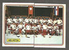1979 Panini World Hockey 79, Team Switzerland (Helvetia), Set of 10