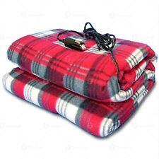 Zone Tech Car Heated Travel Blanket – Plaid Premium Quality 12V Automotive Com