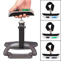 LCD Digital Hanging Luggage Scale Travel Electronic Weight 110lb / 50kg Suitcase