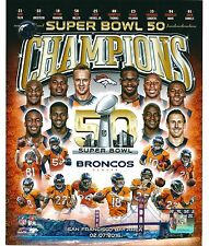 "Denver Broncos Super Bowl 50 Champions Team Photo  (Size: 8"" x 10"")"