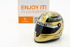 M.Schumacher Mercedes Formule Gp 1 Spa 2011 Or Casque 1:2 Schuberth