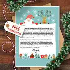 Personalised Christmas Letter From Santa Claus With Matching Envelope Design 3