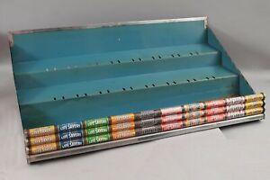Vintage Tin Advertising Lifesaver Countertop Display RARE 3 tier 9 Flavor Case