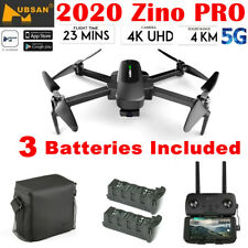 Hubsan Zino PRO 5G Wifi APP Drone 4K FPV Quadcopter 4KM W/3Gimbal+ 2Battery+Bag