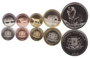 Somalia _ set 5 coins 5 10 25 50 100 Shillings 2013 UNC Lemberg-Zp