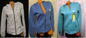 New - Danskin Now Women's Active Full Zip Fleece Hoodie, XS – 3X