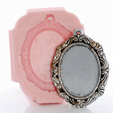 Silicone Cameo Setting Mold - Resin Polymer Clay Metal Clay Food Safe Mold (541)