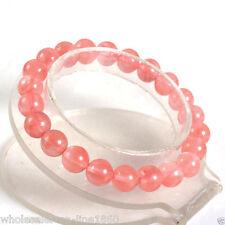 Beads Stretch Bracelet 7.5'' 8mm natural Watermelon Tourmaline Gemstone