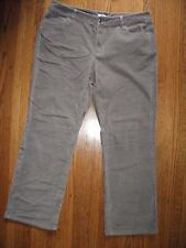 LIZ & CO Womens 16 Taupe Stretch Cotton Fine Wale Corduroy Pants BARELY WORN