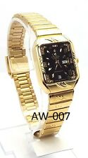New Citizen Lady Gold-tone, Black-dial- Square Dress Watch