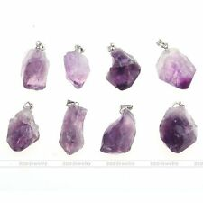 Irregular Natural Amethyst Crystal Healing Point Chakra Pendant For Necklace DIY