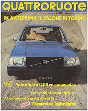 QUATTRORUOTE 10/1976 VOLVO 343 DL – ALFA ROMEO ALFASUD SPRINT