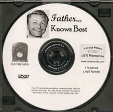 FATHER KNOWS BEST - 114 Shows Old Time Radio In MP3 Format OTR On 1 DVD