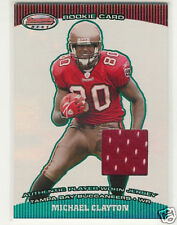 2004 BOWMAN'S BEST GREEN MICHAEL CLAYTON JERSEY RC /499