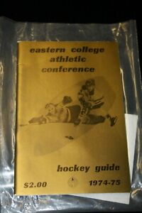 VERY RARE 1974-75 EASTER CONFERENCE CHAMPIONSHIP GUIDE (KEN DRYDEN)