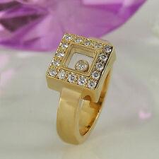 Natürliche Ringe im Cluster-Stil aus Gelbgold mit Diamanten