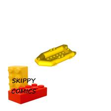 Lego - Bateau JAUNE YELLOW boat 11x6 - 6099480 - 30086