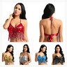 Sexy Womens Belly Dance Costume Sequin Bra Top Festival Carnival Tassel Bralette