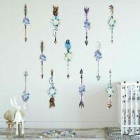 Floral Arrow Wall Decal Home Nursery Decor Sticker Kids Room Art Mural Gift DIY